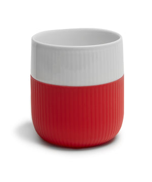 Fluted Contrast Mug (Scarlet Red) by Royal Copenhagen
