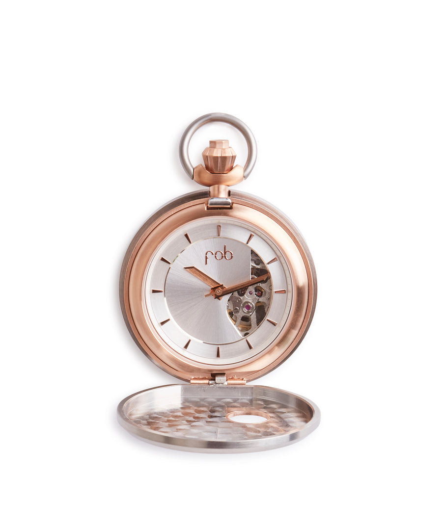 Legacy Fob Watch R40 S Pink Gold (Small) by Fob Paris