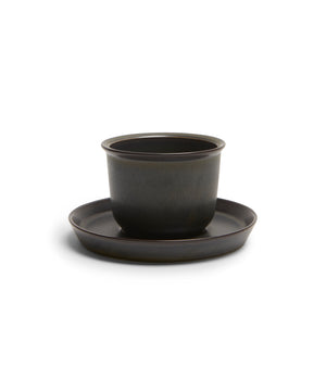LT Cup & Saucer 160ml (Black) by Kinto