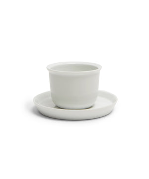 LT Cup & Saucer 160ml (White) by Kinto