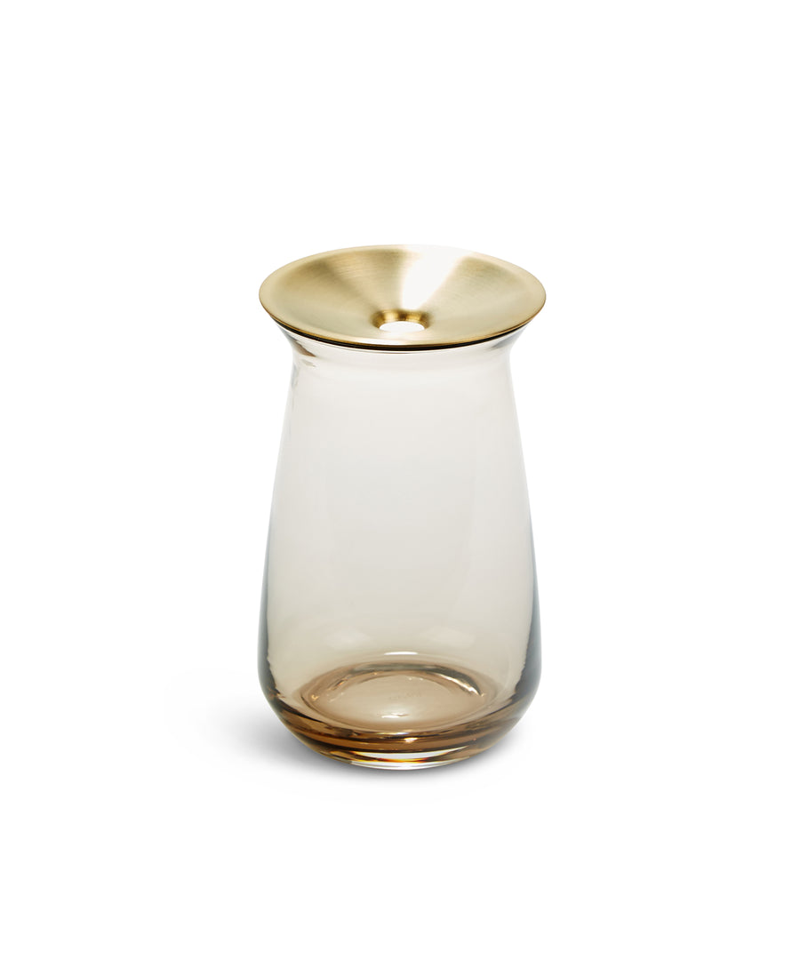 Luna Vase L (Brown) by Kinto