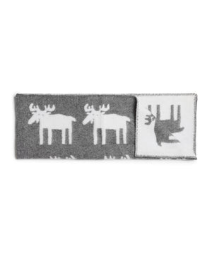 Moose Blanket (White/Grey) by Klippan