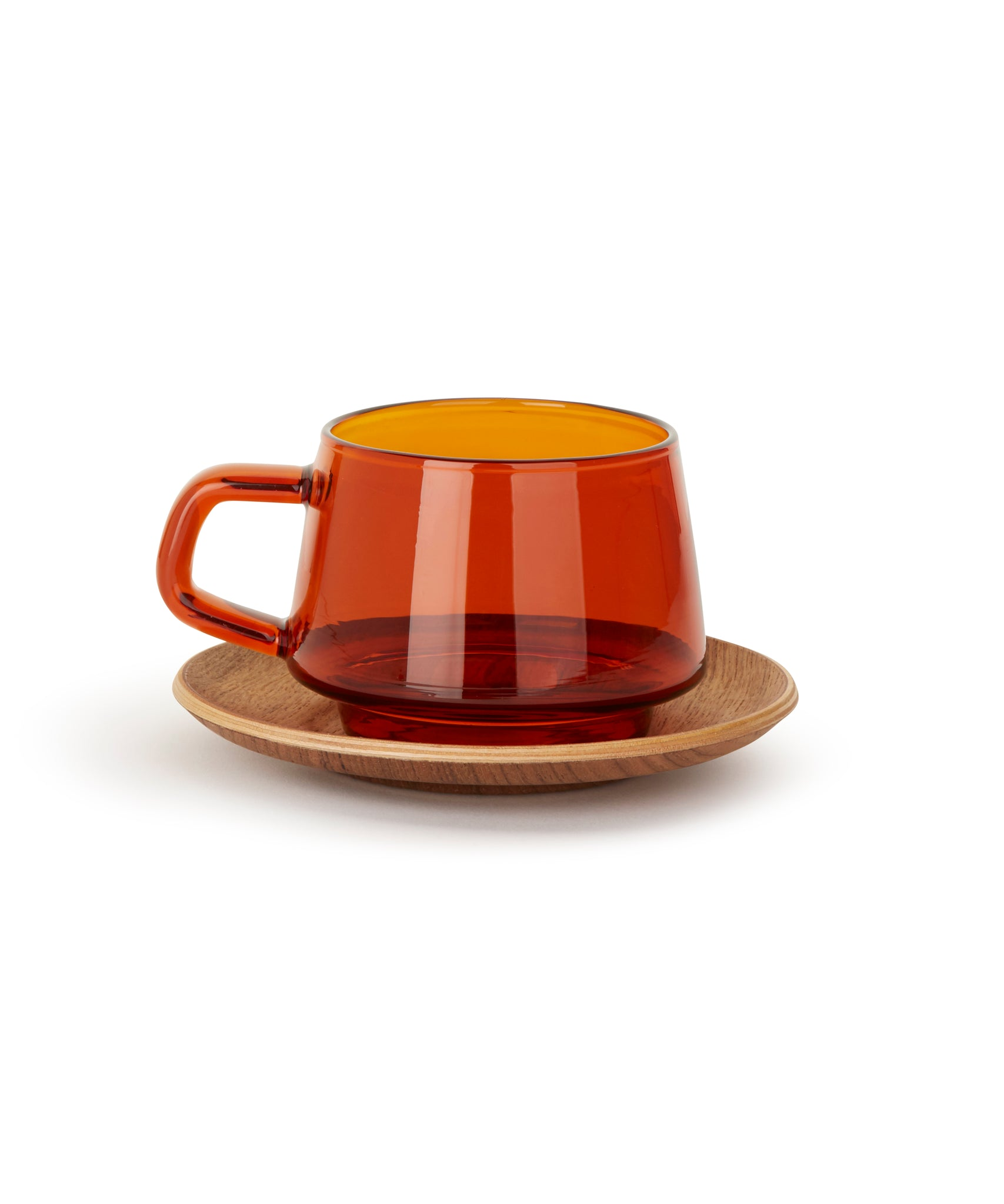 Sepia Cup & Saucer by Kinto