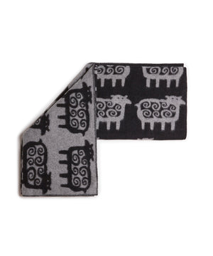 Sheep Blanket (Grey/Black) by Klippan