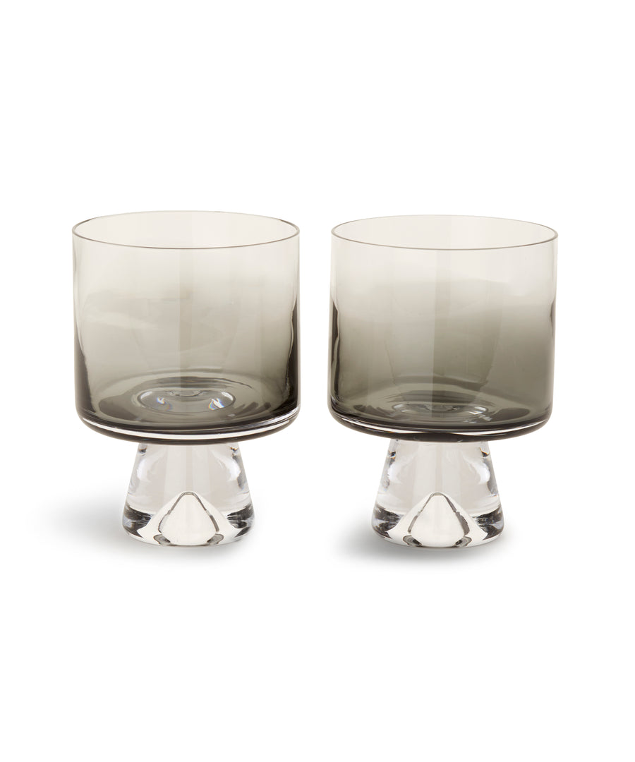 Tank Low Ball Glass (Black) x2 by Tom Dixon