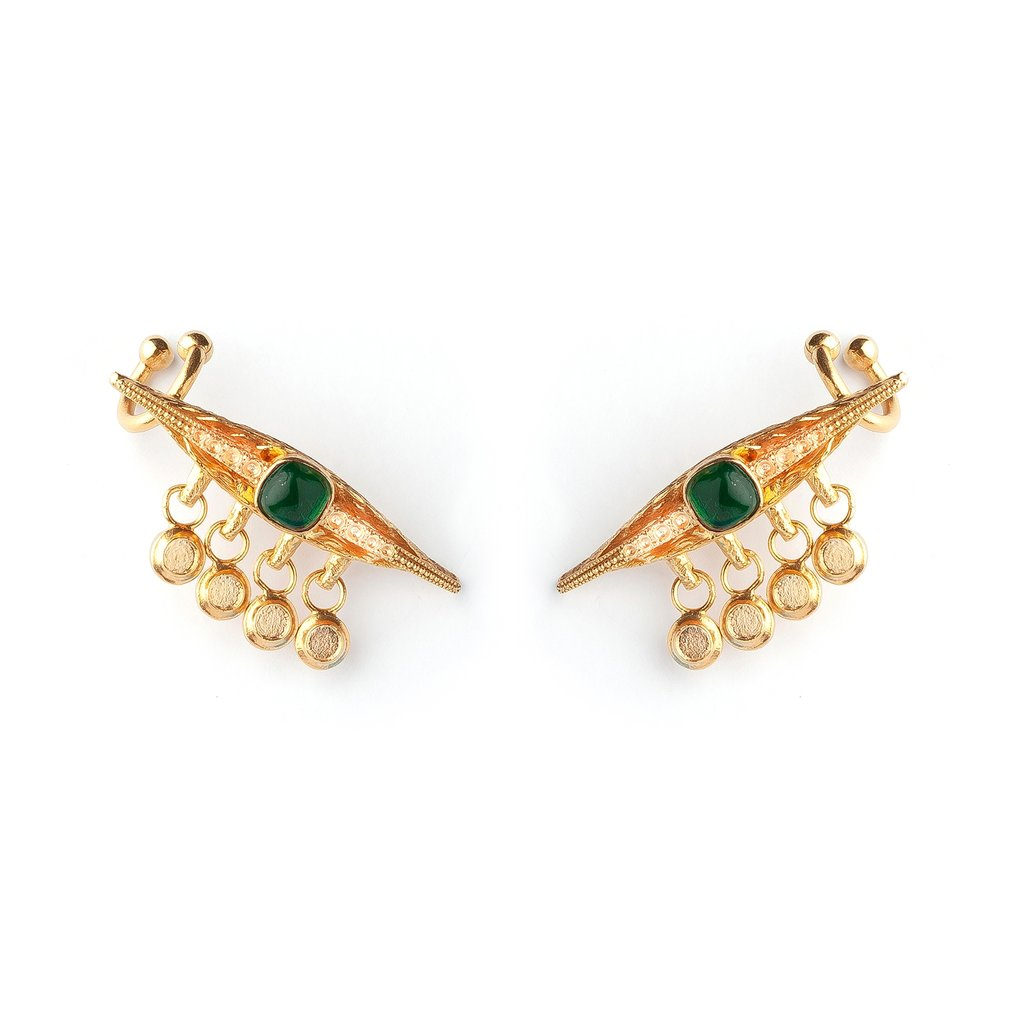 Emerald Eye Luxury Earrings