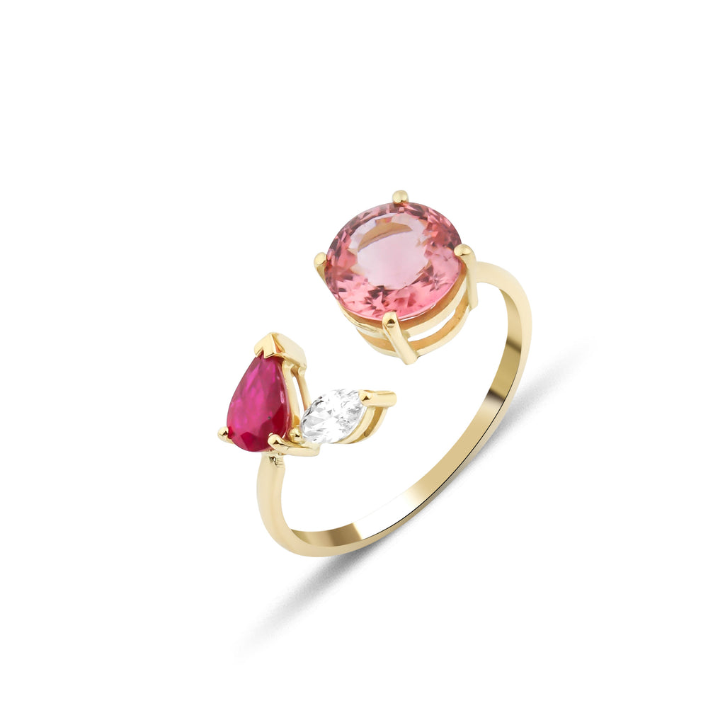 Artisia Pink Leaf Ring