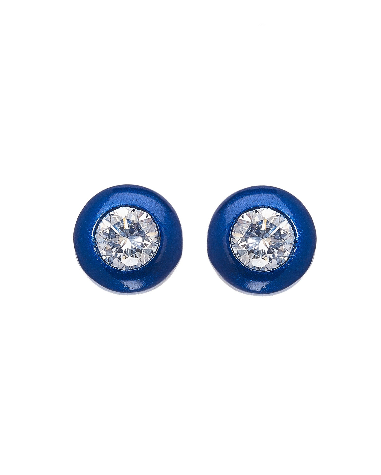 April Star White Diamond Earrings
