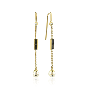 Eline Black Diamond Earring