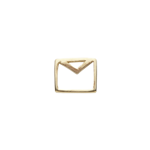 Gold Envelope Charm