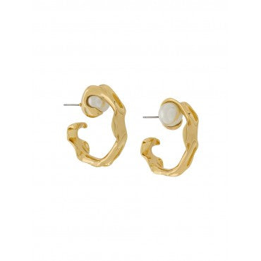 Gold Liquid Hoop Earrings