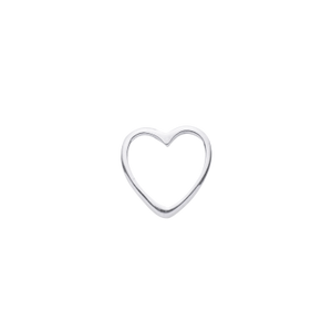 White Gold Heart Charm