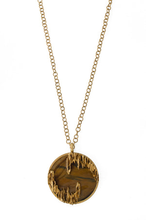 Kutchinsky Gold Necklace And Tigers Eye Pendant