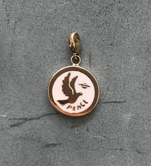 The Pink Enamel Dove Necklace