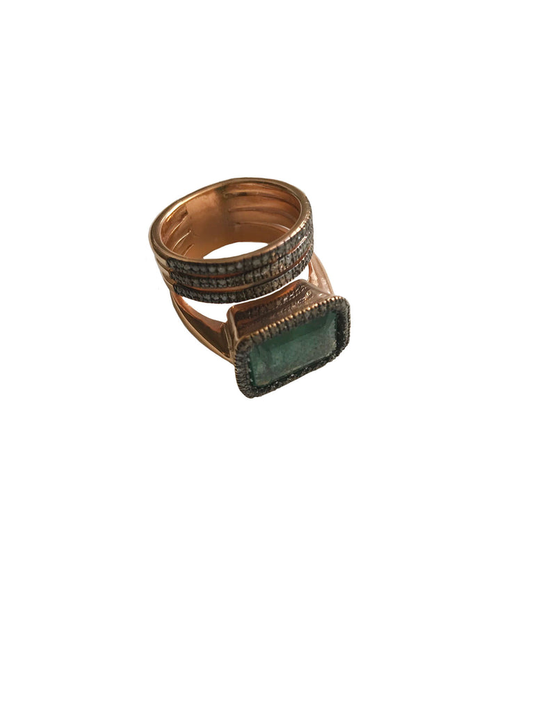 Rectangle Emerald Ring