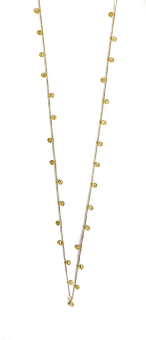 Gold Mixed Discs Necklace