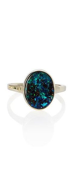 Large Oval Opal Ring