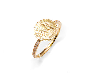 Louise d'Or Pavé Ring