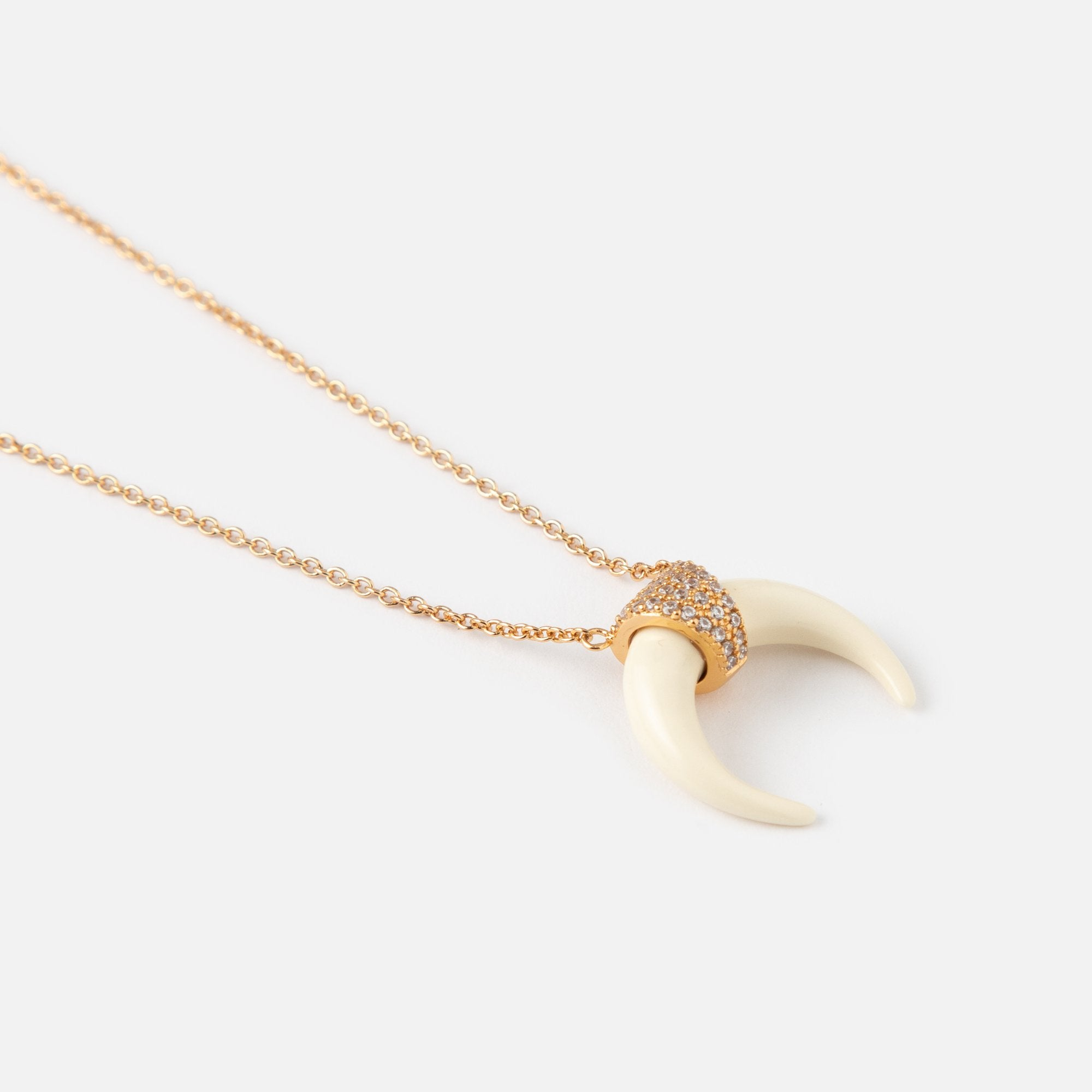 Luxe Horn Necklace - Ivory White