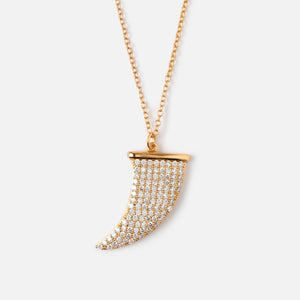Luxe Pave Tusk Necklace