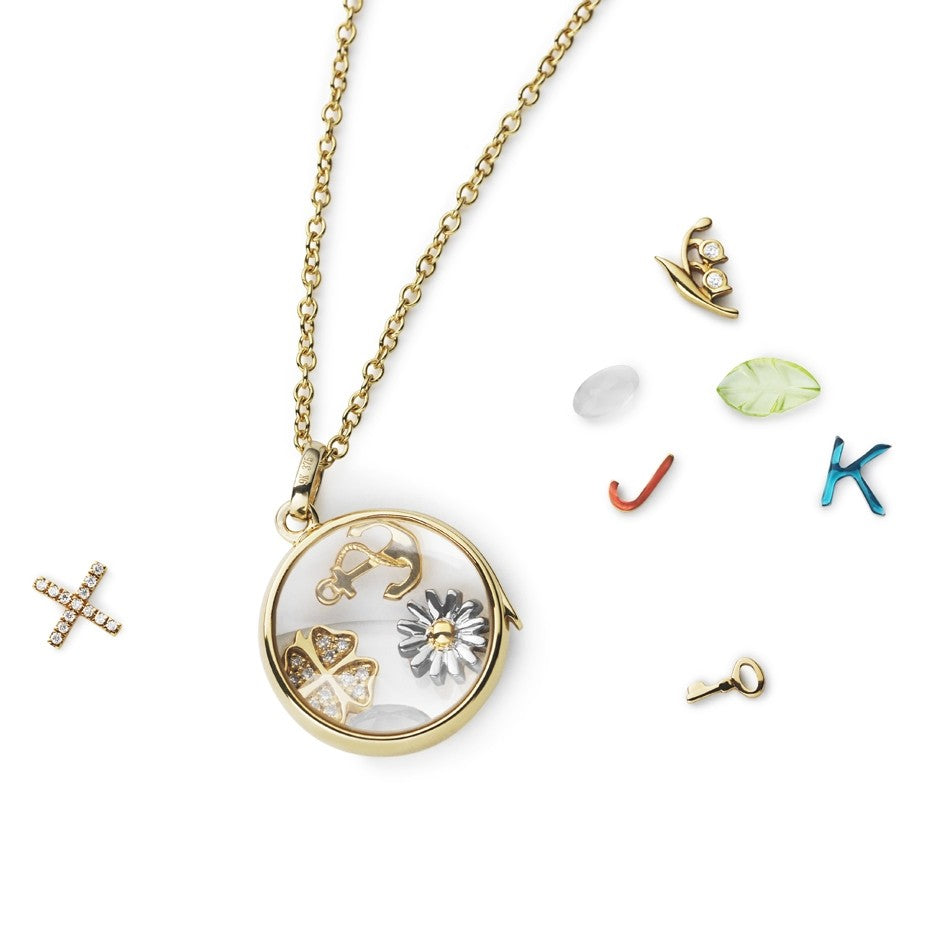 Medium Gold Round Locket