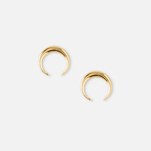 Mini Crescent Stud Earrings