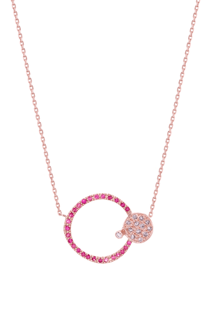 Circle & Spot Necklace