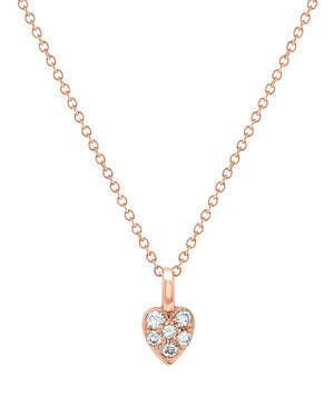 Single Heart Diamond Necklace