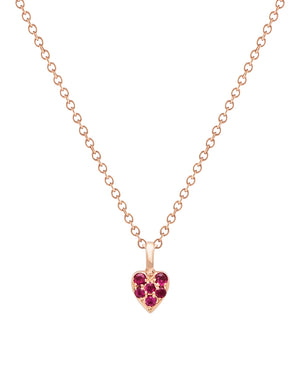 Single Heart Ruby Necklace