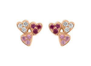 Queen Of  Hearts Multi Color Earrings