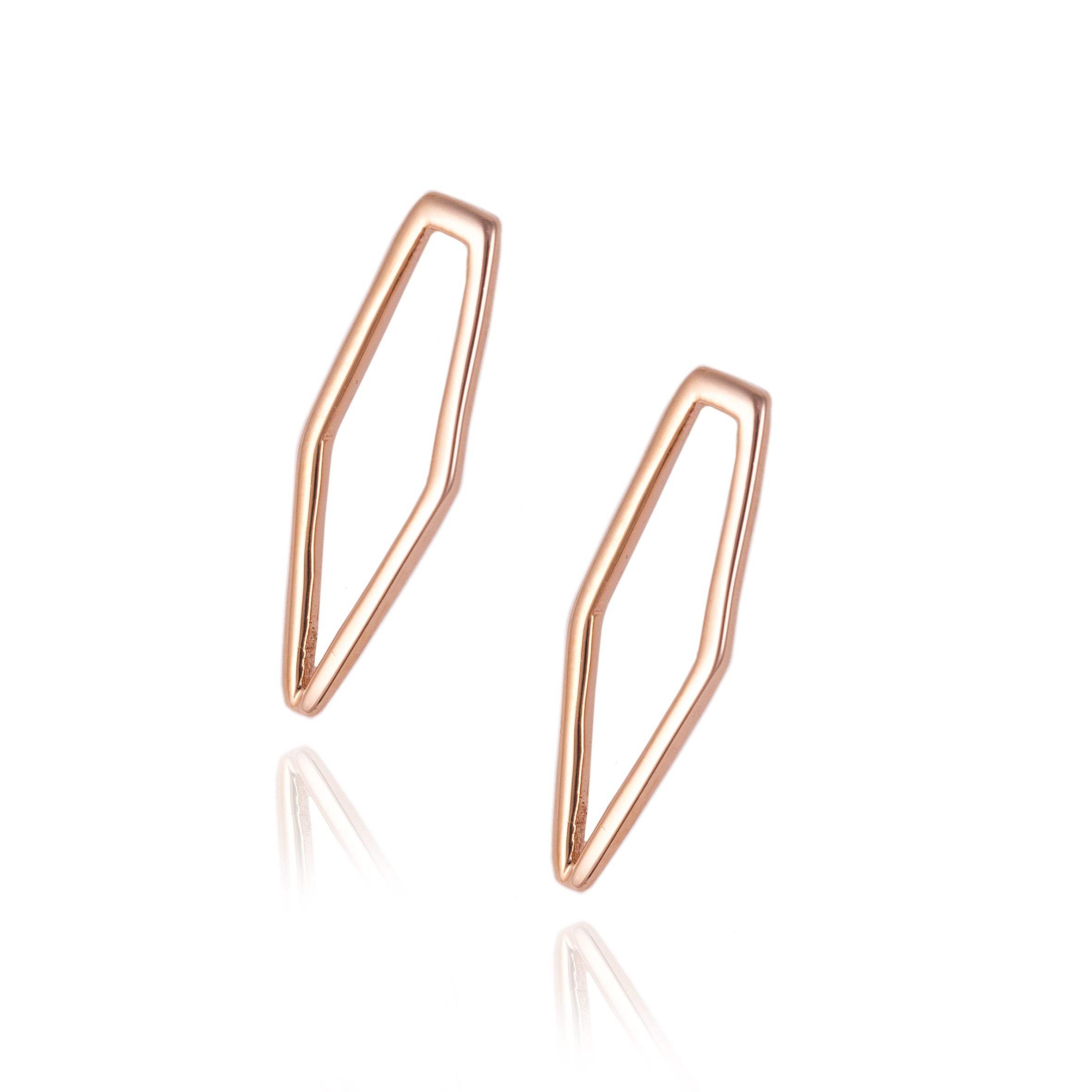 Rose Gold Mini A.D Studs