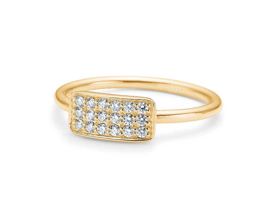 Rock Diamond Square Ring