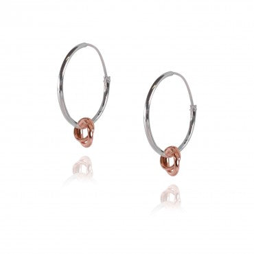 Rose Gold Interlinking Jump Charm Hoops