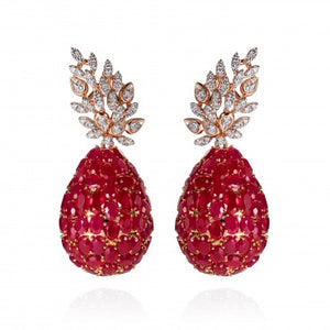 Lucious Ruby Earrings