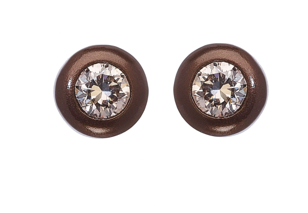 April Star Champagne Diamond Earrings