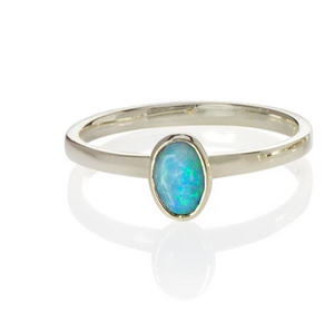 Small Oval Opal Ring