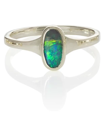 Medium Oval Opal Ring