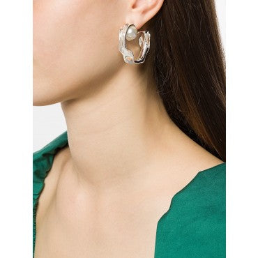 Silver Liquid Hoop Earrings
