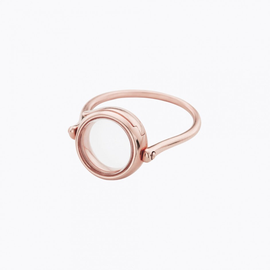 Small Round Rose Gold Loquet Ring