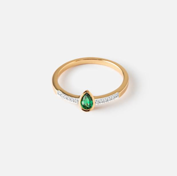 Emerald Green Stone Ring