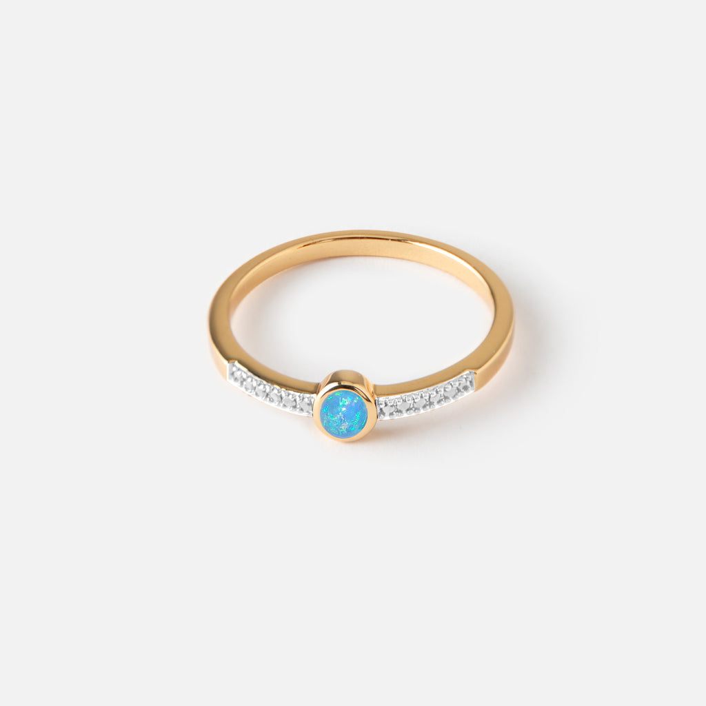 Blue Opal Stone Ring