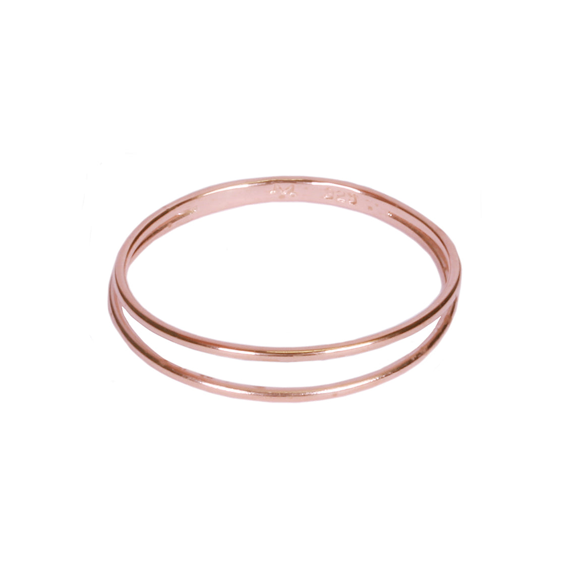Rose Gold Strand Ring