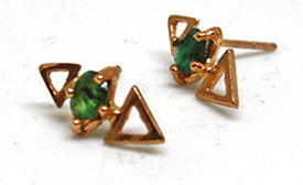 Topkapi Triangle Earrings