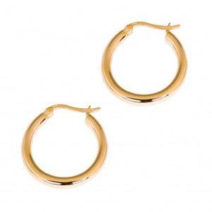 Gold Polar Hoops