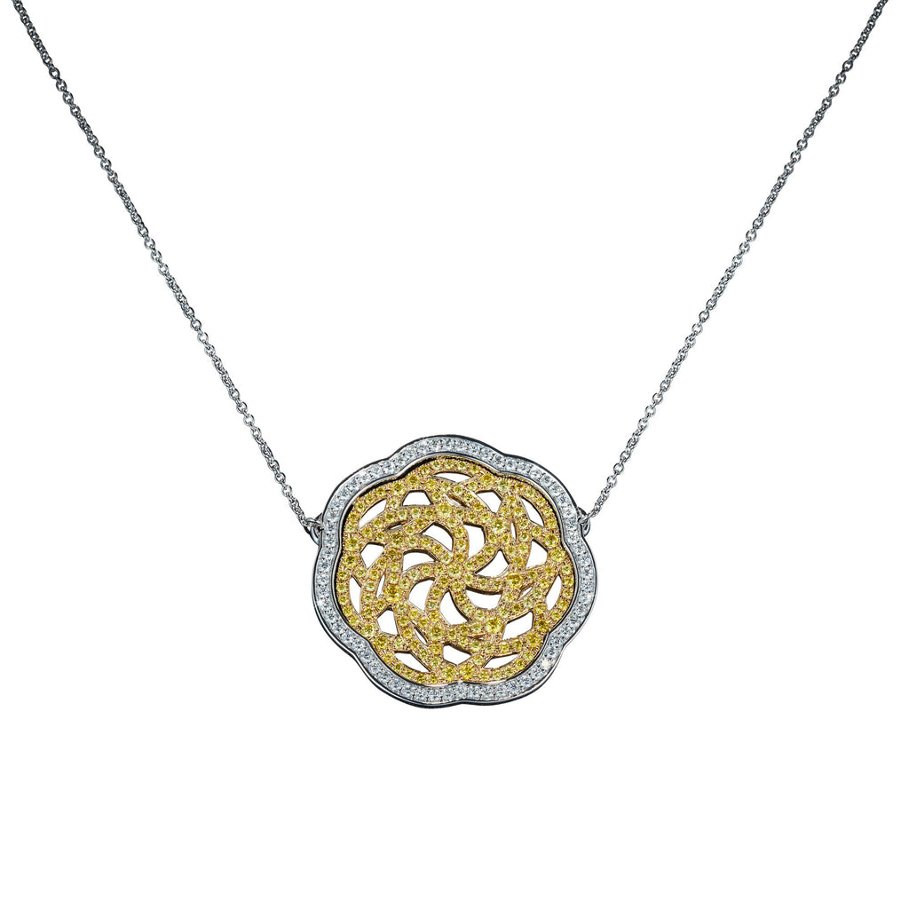 White & Gold Pendant