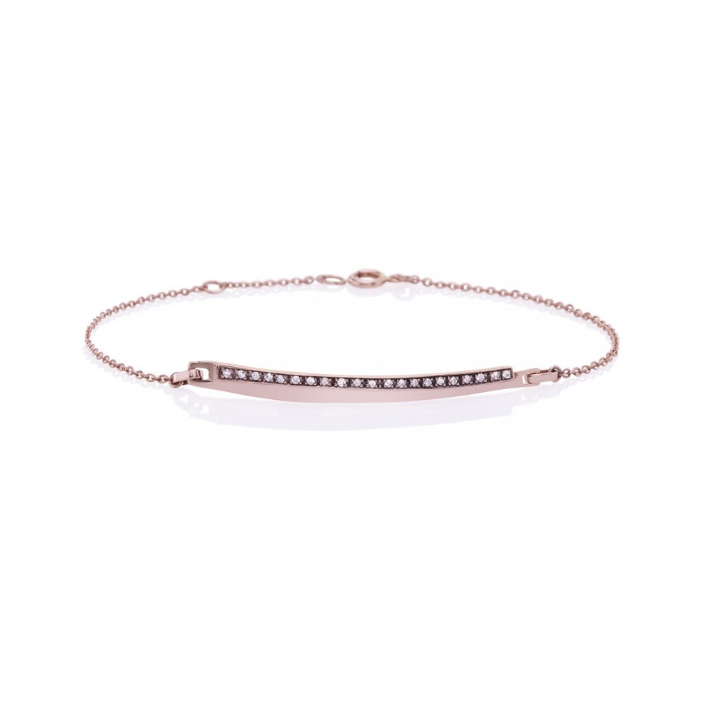 Grey Diamond Bar Bracelet