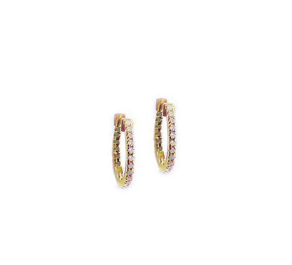Claire Huggie Hoops - Diamonds