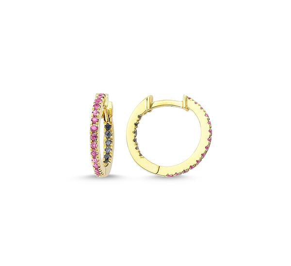 Claire Sapphire Huggie Hoops
