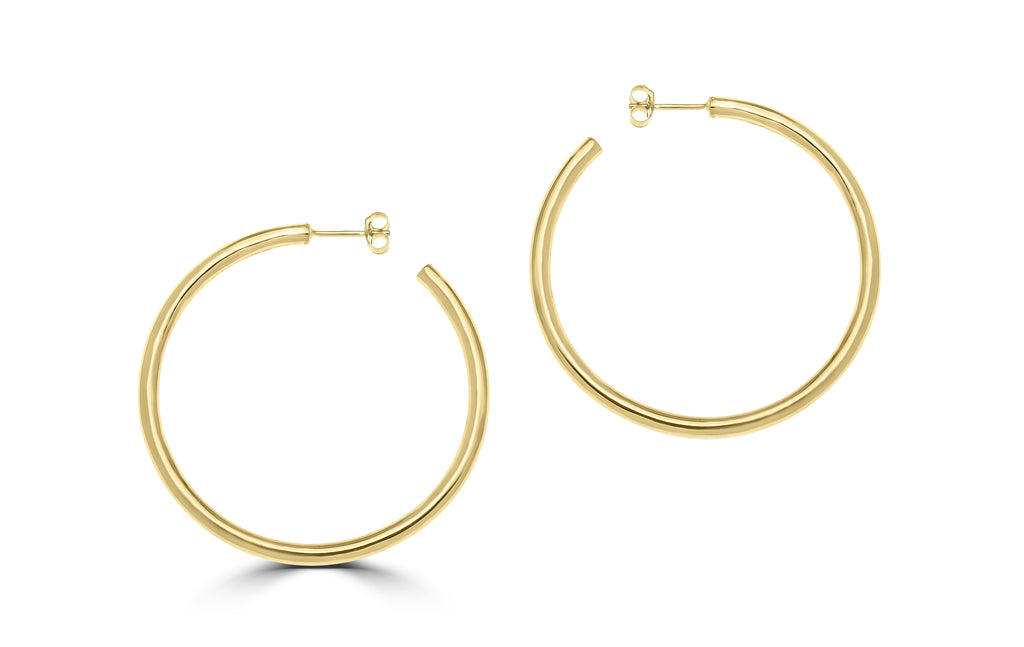 Classic Large Hoop Yellow Gold