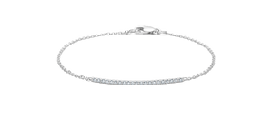 White Diamond Full Rock Square Bracelet